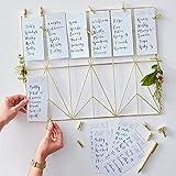 Tisch-Plan/Sitz-Plan/Tisch-Ordnung Organizer aus Metall in Gold inklusive 12 weißen Karten & 12 goldenen Klammern - Hochzeit-s-deko-Ration/Zubehör Hochzeit/Location/Planung Feier Fest Party - 2