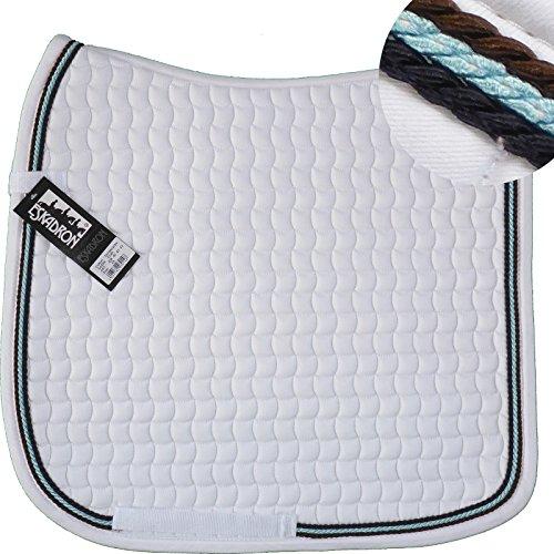 ESKADRON Cotton Schabracke weiß, 3fach Kordel schoko, iceblue, navy, Form:Vielseitigkeit