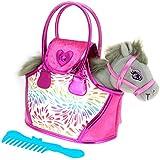 ColorBaby - Pony gris y bolso rosa, color (Baby 85153)