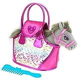 COLORBABY Pony Gris y Bolso Rosa, (Color Baby 85153)