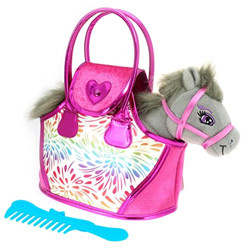 COLORBABY Pony Gris y Bolso Rosa, (Color Baby 85153)