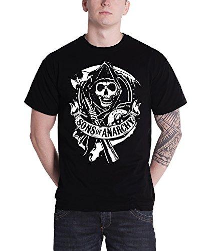 Sons of Anarchy T Shirt Scroll Reaper Nue offiziell Herren
