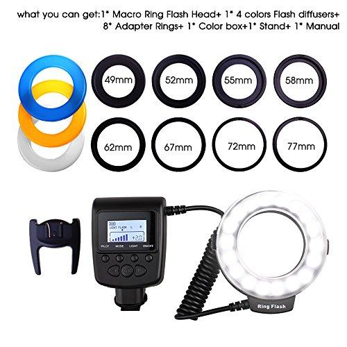 Ringblitz für Canon Nikon Panasonic Olympus Pentax SLR Kameras