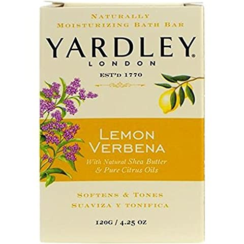Yardley Bar Soap, Botanical Lemon Verbena Shea, 4.25 Ounce by Yardley