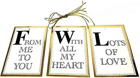 12 Luxury Gold Foil Gift Tags Present Christmas Wedding Birthday