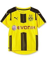 Puma –Camiseta para niño de BVB local, camiseta, color Cyber Yellow/Black, tamaño 12 años (152 cm)