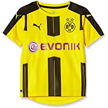 Puma – Camiseta para niño de BVB local, camiseta, color Cyber Yellow/Black, tamaño 14 años (164 cm)