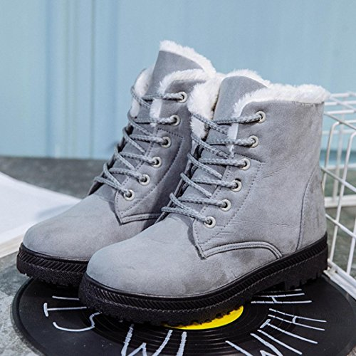 garder bandage boots de Bottes bottes féminine Gris Mode Transer® et Martin neige Chaussures hiver chaud wqBqSUXY