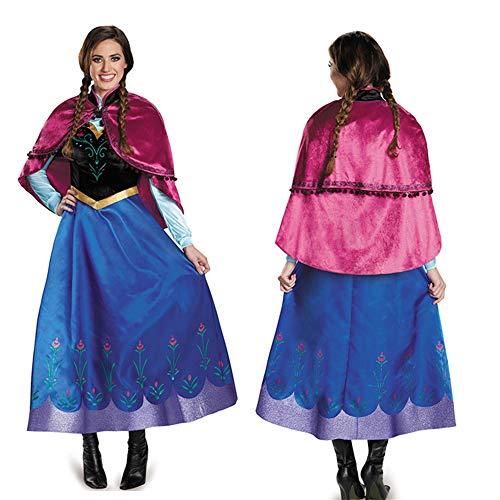 Prinzessin Leia Kleinkind Kostüm - Anime Cosplay Kostüm Prinzessin Rock Anzug Kleid Halloween Kostüm Spiel Dress Up Kleidung Kostüm Uniform Party Stage Performance Kleidung,Blue-M