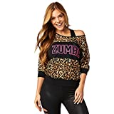 Zumba Fitness Z1T01368 Haut Femme, Bold Black, FR : S (Taille Fabricant : S)