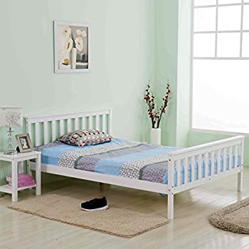 Marko Furniture Solid Pine Wooden Bed Frames Single Double King Bunk ...