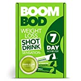 Boombod Weight Loss Shot Drink, Glucomannan, High Potency, Diet and Exercise Enhancement, Promote Fat Loss, Keto and Vegan Friendly, Sugar and Aspartame Free, Gluten-Free - Lemon Lime Flavour