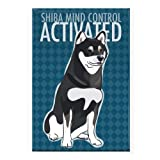 Pop Doggie Shiba Mind Control Activated Black and Tan Shiba Inu Fridge Magnet