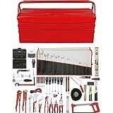 KS Tools 116.0196 Premium - Lote de herramientas de fontanería (116 piezas, incluye caja de transporte metálica)