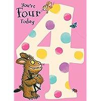 """The Gruffalo GR005""""4th"""" Birthday Card"""