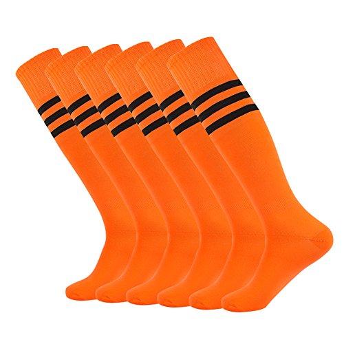 Sportsocken Männer Frauen Fußball Unisex Knee High Triple-Fußball Plain Sportlich Mannschaft 2-12 Paare Grip-socken Von Under Armour