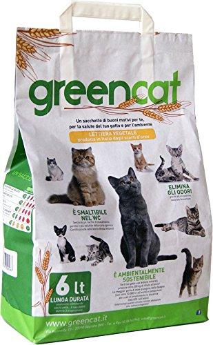 Green Cat Litière pour chats 100 % WC biodégradable éliminable/compostable