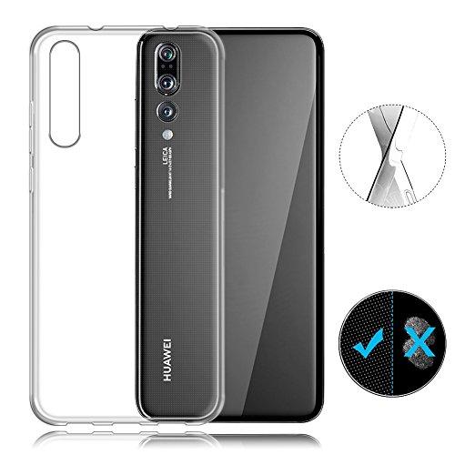 AVIDET Premium TPU Souple Etui de Protection [Ultra mince] [Poids léger] [Anti-rayures] pour Huawei P20 Pro (Transparent)