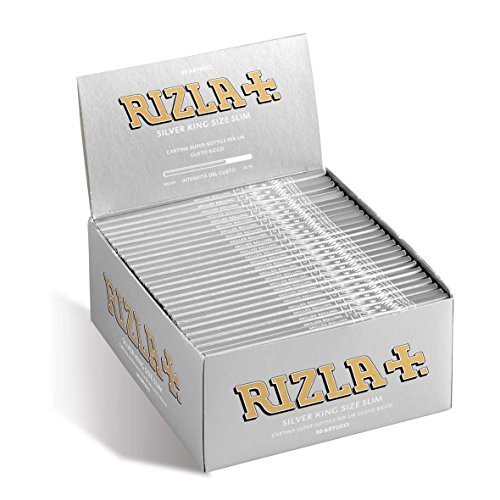 RIZLA CARTINE KING SIZE SLIM SILVER - 50 LIBRETTI