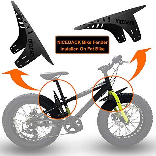 "NICEDACK MTB Schutzblech, Mountainbike Spritzschutz Fahrrad Mud Guard Set Passen 20 26 27,5 29\"" Zoll Fettes Fahrrad MTB Mudguard"