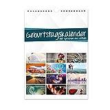 Geburtstagskalender mit Sprüchen und Motiven I jahresunabhängig I Dauerkalender mit Spiralbindung für die ganze Familie I print_012