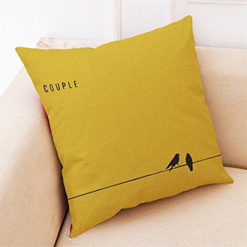 sunnymi Bett Kissen Cover sunnymi Sofa Kissenbezug,Geometrie Blumen,Bettwäsche Schlafsofa Babybett (Gelb E, 45 * 45cm)