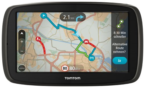 TomTom GO 60 Europe Traffic Navigationssystem (15 cm (6 Zoll) resistives Touch Display - Bedienung per Fingergesten, Lifetime TomTom Traffic & Maps) (Tom Tom Lifetime Maps)
