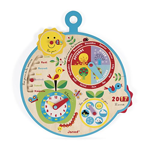 """Janod - Calendario """"Nel Corso del Tempo"""", Versione Francese, J09617"""