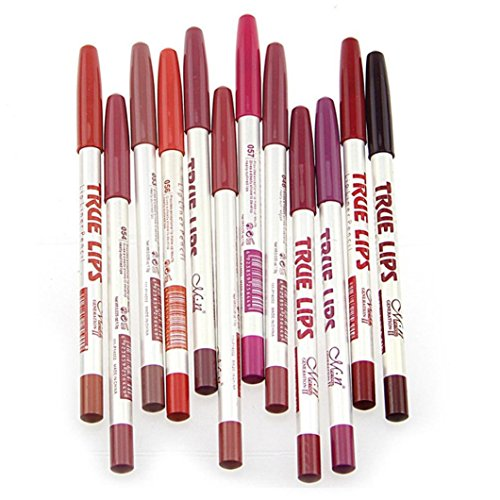 Hosaire 12 Stück/set Make Up Lipliner Professionelle Lippenkonturenstift für Beauty Multifunktion...