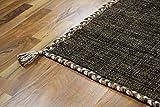 Natur Teppich Bauwolle Kelim Prico Dunkelbraun in 8 Größen