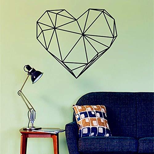 Herzform Vinyl KunstdruckWandbilder für Hauptdekoration Wandkunst Dekor 3d wandaufkleber Tapete adesivo de parede 56 cm x 65 cm