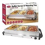 Quest Buffet Server/Hotplate with 3-Sections, 300 Watt