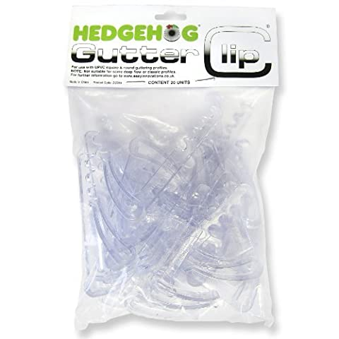 20x Hedgehog Gutter Clips - secure brush in gutters with