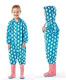 Enfant Siamese Imperméable Pantalon de pluie Set enfants Garçon Fille Cartoon Outdoor Big Student Bébé Enfant Imperméable Veste imperméable à l'eau ( couleur : N ° 4 , taille : S )
