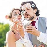 WeddingTree Premium Seifenblasen Set in rot- 48 teilig mit Herzgriff - herzallerliebst für Hochzeit Taufe Geburtstag Goldene Hochzeit Verlobung Valentinstag Gastgeschenk Party - 3