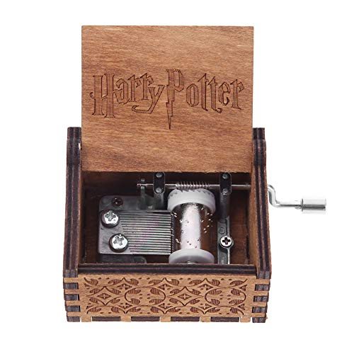InnerSetting Musikbox aus Holz mit Handkurbel und Musik-Box, Geschenk für Kinder, Antik-Geschnitzte Holz-Spieluhren, Dekoration zu Hause 1 -