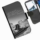 Hairyworm- Wort Seiten Leder-Schützhülle für das Handy LG G2 (D800, D802/TA, D803, VS980, LS980)