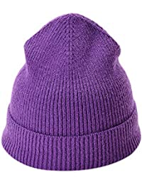 d950244fda8 BHYDRY Ribbed Beanie Hat Mens Solid Color Knited Headgear Tail Cap