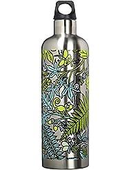 Botella térmica Futura de Laken en acero inoxidable con aislamiento al vacío y boca estrecha 750 ml Kukuxumusu Selva