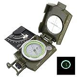 Triplespark Professionelle Militär Armee Metall Sighting Kompass Klinometer Camping