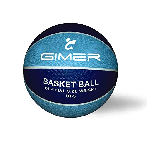 GIMER, balón Baloncesto Unisex Infantil, Azul, 28x