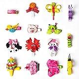 imanom Haarschleifen für Mädchen Lovely Pet Form Hair Clips für Jugendliche Baby Mädchen Babys Kleinkinder Set von 15