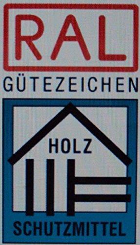 Farben-Budimex Profi Industrie Aqua Holzschutzlasur mit UV-Schutz / Dunkelgrau 5 L / Holzschutzlasur auf Wasserbasis, Speziallasur v. Holzfachhandel für Hölzer im Innen- u. Aussenbereich