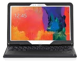 DONZO Tasche inkl. Bluetooth Tastatur (deutsches Tastaturlayout, QWERTZ) für Samsung Galaxy tab pro 10.1 T520 & T525 mit Standfunktion - schwarz