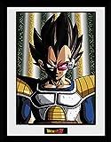 1art1 106782 Dragonball Z - Vegeta Gerahmtes Poster Für Fans und Sammler 40 x 30 cm
