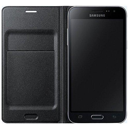 SAMSUNG EF-WJ120PBEGWW Etui Portefeuille Galaxy J1 2016 Noir