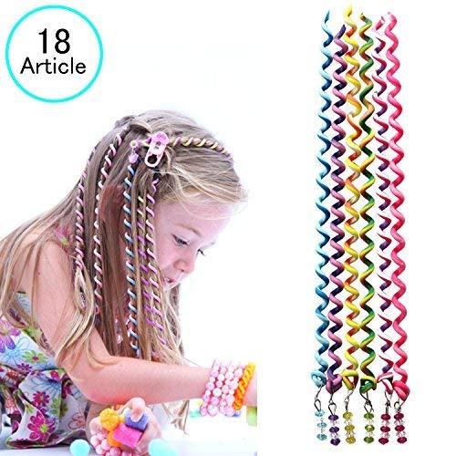 18 pezzi ragazze elastici capelli fasce,beautyshow cute capelli fiocchi capelli bande intrecciato elastico elastici per capelli fasce accessori capelli bambina colorato