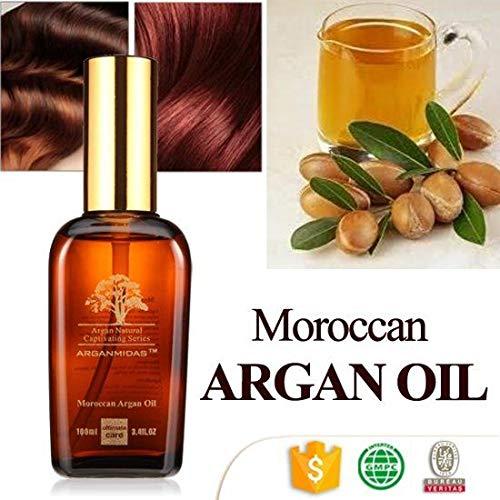 Pure Huile d'Argan 100% bio pour cheveux, peau, corps et ongles, 100ml