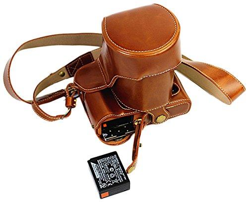 Voller Schutz Boden Öffnung Version Schutzmaßnahmen PU Leder Kameratasche Tasche für FUJIFILM Fuji X Serie X - T20, X - T10 16 bis 50mm Objektiv mit Schulter Hals Strap Gürtel Braun
