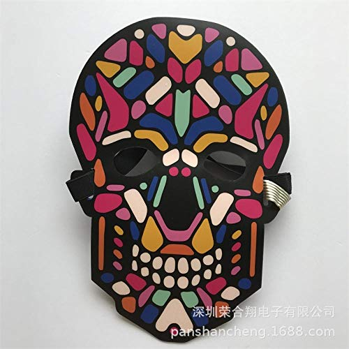 Maschera Prom Luce Fredda Maschera Luminosa Maschera Luminosa Illuminazione Sonora @ MK-007